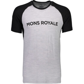 Mons Royale M's Temple Raglan Tech T-Shirt Black/Grey Marl